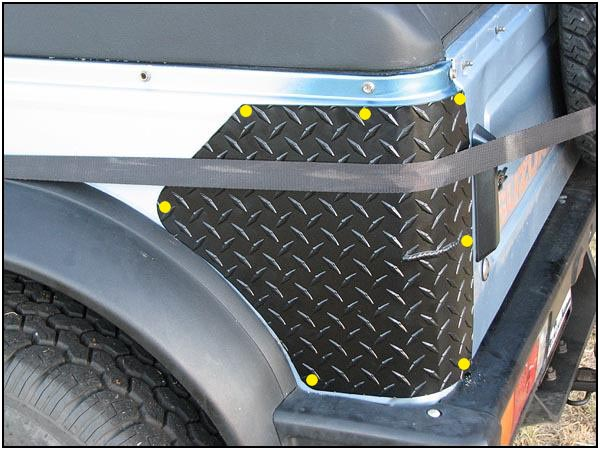 Low Range Off Road Samurai Diamond Plate Corner Guards