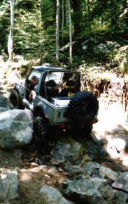 Chris Robbins in the Rock Garden - Trail 2