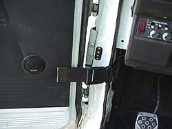 Removable door strap