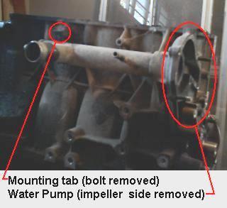 Samurai G13 water pump inlet manifold