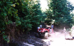 Mike Dugan in the gas on Guardrail - Trail 11